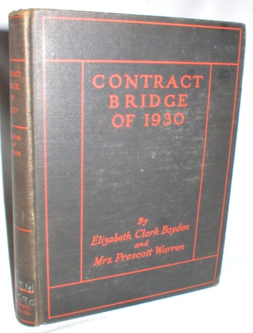 Image for Contract Bridge of 1930