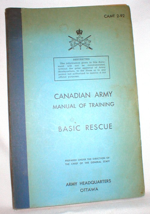 Image for Canadian Army Manual of Training; Basic Rescue