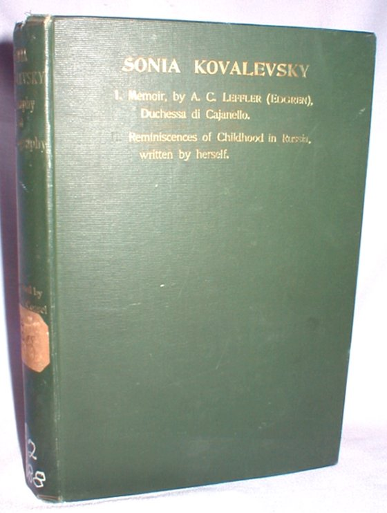 Image for Sonia Kovalevsky; Biography and Autobiography