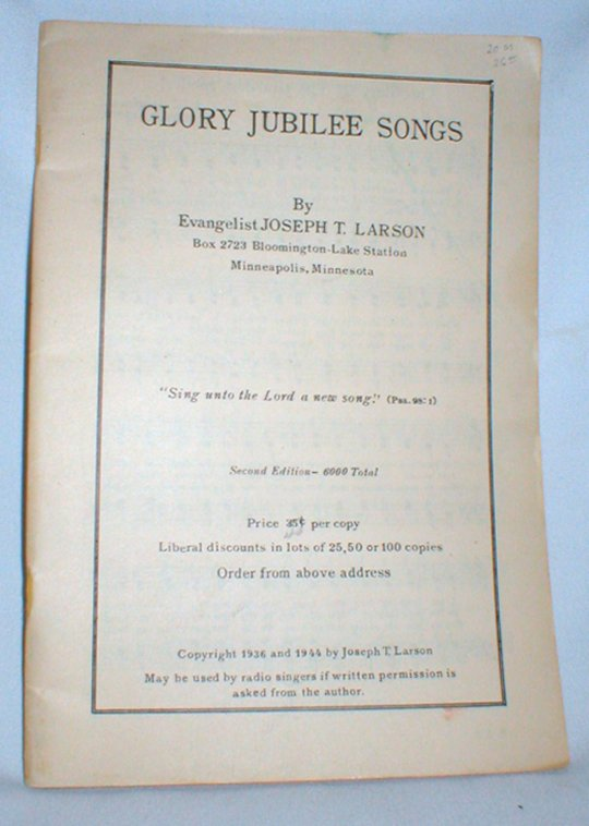 Image for Glory Jubilee Songs