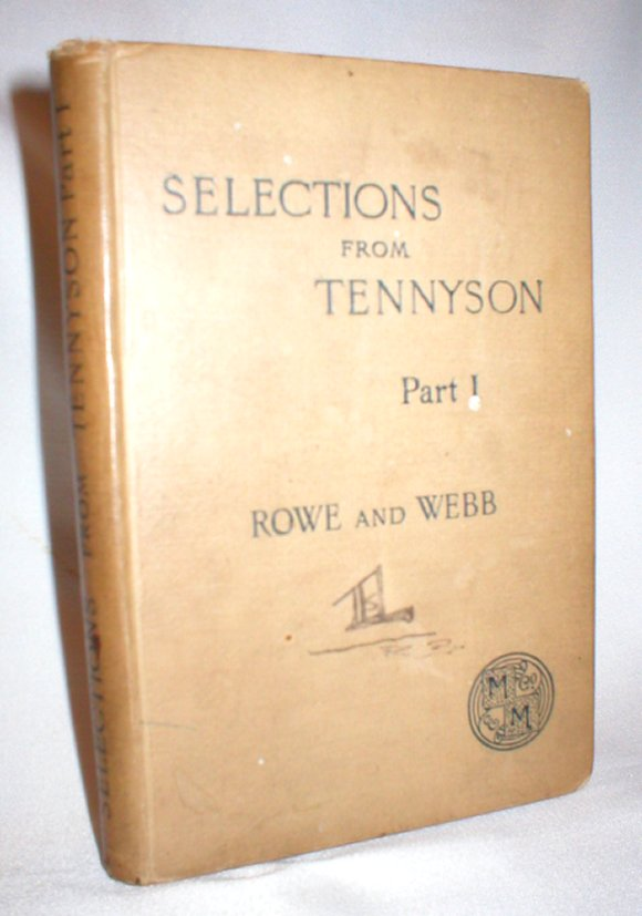 Image for Selections from Tennyson Part I: With Introduction and Notes
