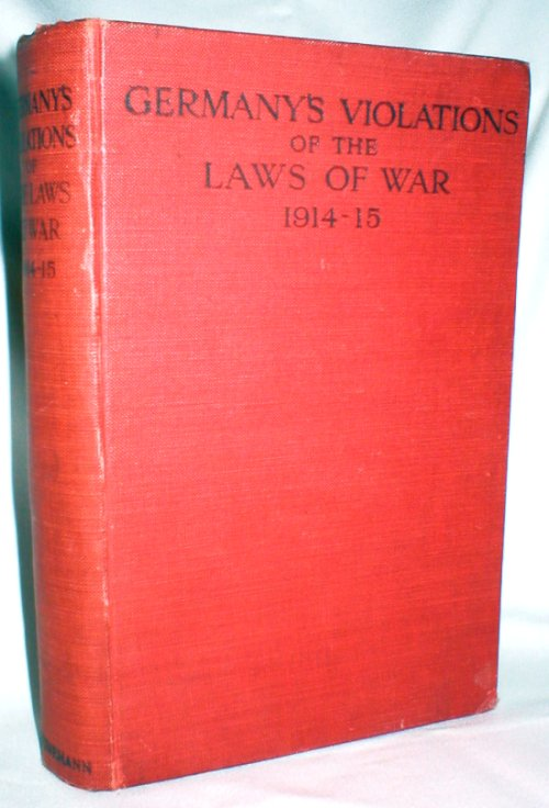 Image for Germany's Violations of the Laws of War 1914-15