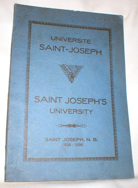 Image for Universite Saint- Joseph ; Saint Joseph, N.B. 1935-1936