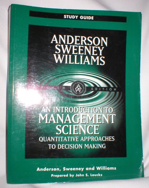 Image for Study Guide; An Introduction to Management Science; Quantitative Approaches to Decision Making