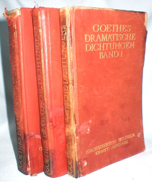 Image for Goethes Dramatische Dichtungen (Band I,II, and III)