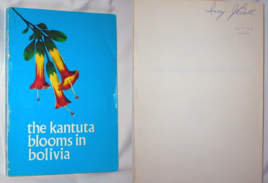 Image for The Kantuta Blooms in Bolivia (Signed)