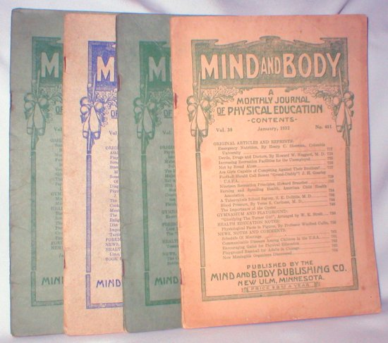 Image for Mind and Body; A Monthly Journal of Physical Education (Jan., Feb., March, and April, 1932)