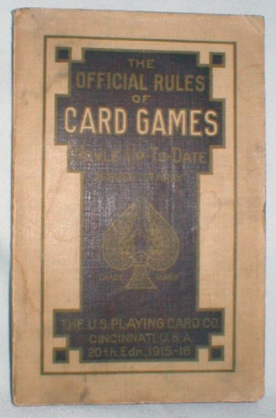Image for The Official Rules of Card Games; Hoyle Up-to-date 1915-1916