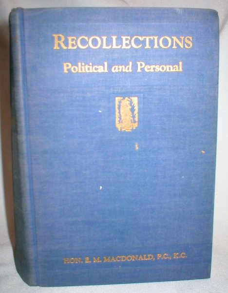 Image for Recollections; Political and Personal