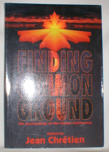 Image for Finding Common Ground; The Proceedings of the Aylmer Conference