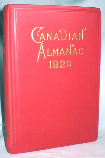 Image for The Canadian Almanac and Legal and Court Directory for the Year 1929