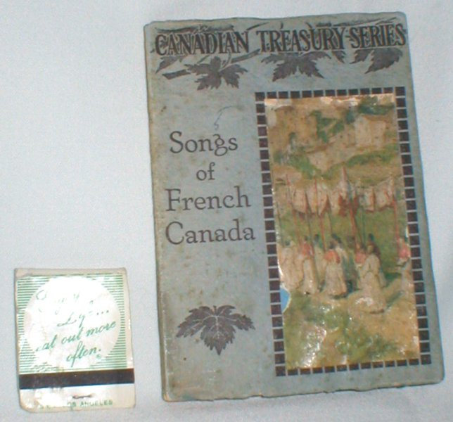 Image for Songs of French Canada; Translated Into English (Canadian Treasury Series)