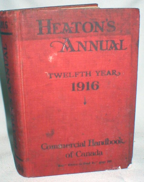 Image for Heaton's Annual;The Commercial Handbook of Canada and Boards of Trade Register