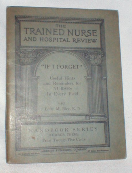 Image for The Trained Nurse and Hospital Review (Handbook Series Number Three)