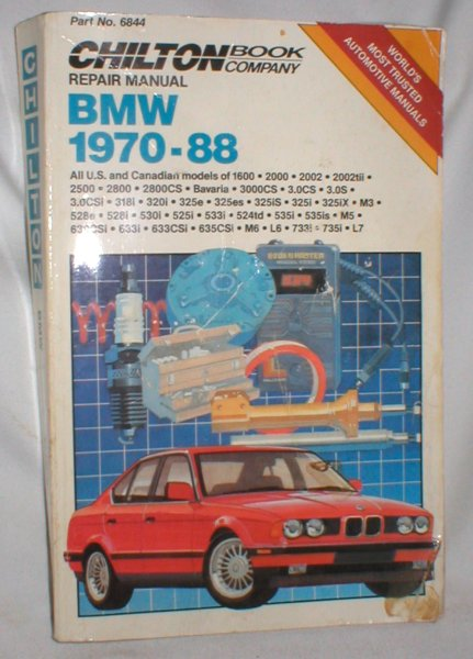 Image for BMW 1970-88 Repair Manual (Chilton)
