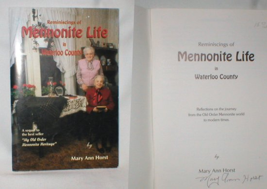 Image for Reminiscences of Mennonite Life in Waterloo County