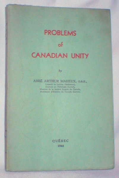 Image for Problems of Canadian Unity