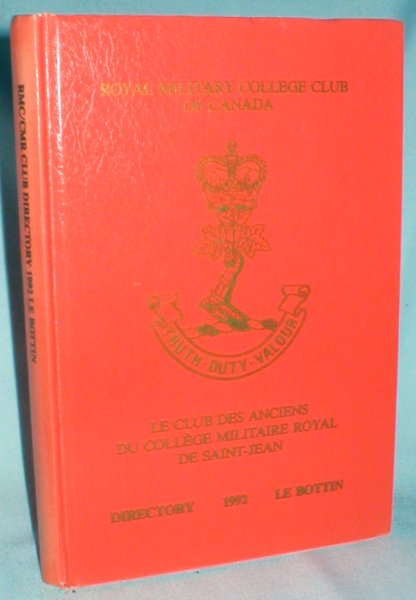 Image for Directory of Ex-Cadets (1992): Royal Military College Club of Canada