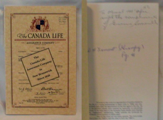 Image for The Canada Life Assurance Company in New Brunswick Since 1848 (Signed)