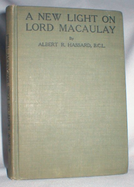 Image for A New Light on Lord Macaulay