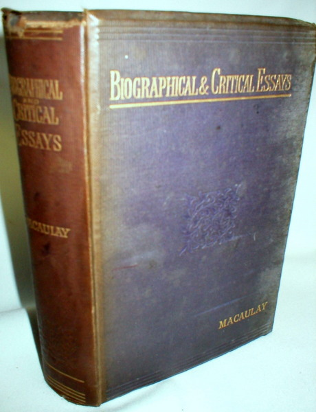 Biographical Critical And Miscellaneous Essays And Poetical Works Image For Biographical Critical And Miscellaneous Essays And Poetical  Works