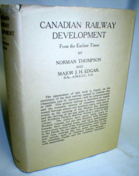 Image for Canadian Railway Development from the Earliest Times
