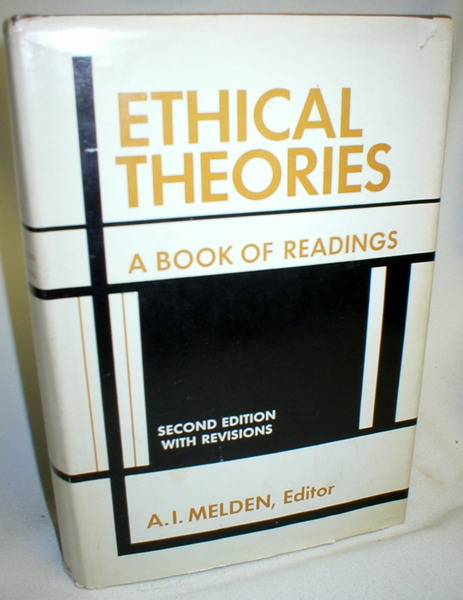 Image for Ethical Theories; A Book of Readings