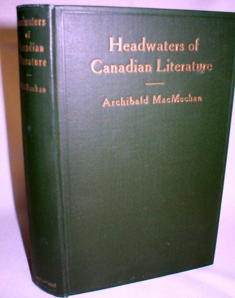 Image for Headwaters of Canadian Literature