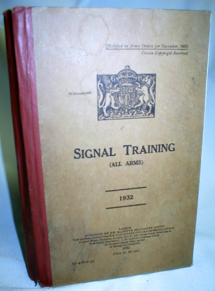 Image for Signal Training (All Arms) 1932 (57-478-0-32)