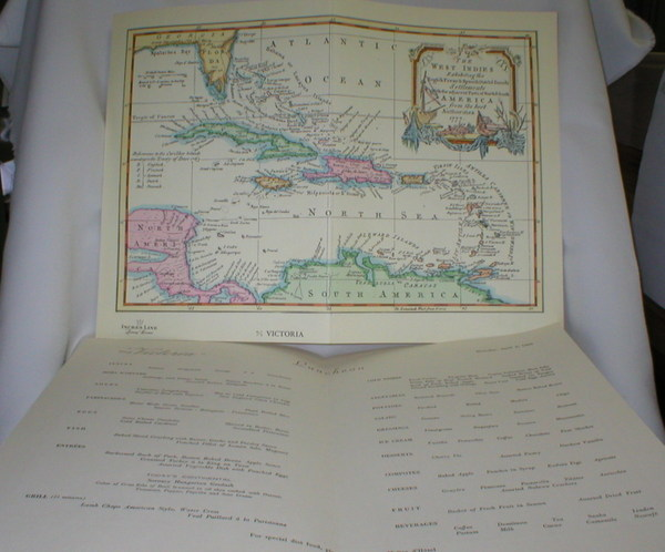 "Image for Map of West Indies 1777 on Luncheon Menu m/s "" Victoria"" (Incres Line)"