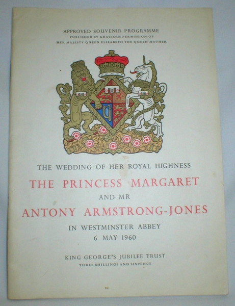 Image for Approved Souvenir Programme; The Wedding of Her Royal Highness the Princess Margaret and Mr. Antony Armstrong-Jones; 6 May, 1960