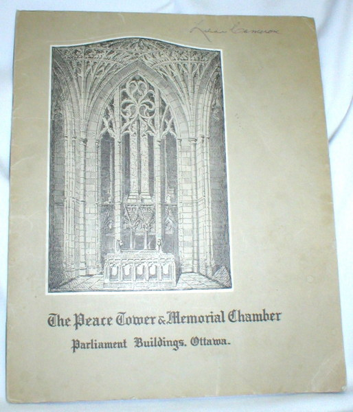 Image for Canada's Peace Tower and Memorial Chamber