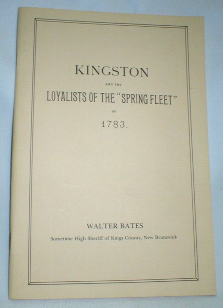 "Image for Kingston and the Loyalists of the ""Spring Fleet"" of 1783"