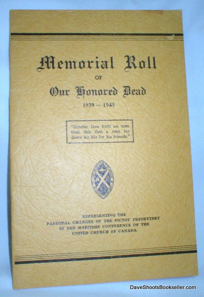 Image for Memorial Roll of Our Honored Dead 1939-1945