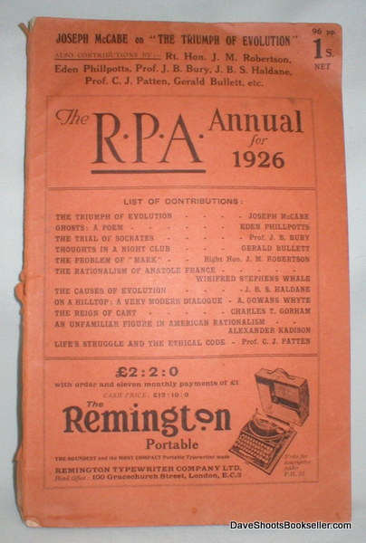 Image for The R.P.A. Annual for 1926