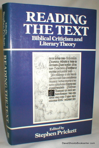 Image for Reading the Text; Biblical Criticism and Literary Theory