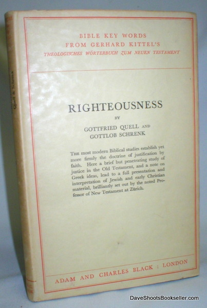 Image for Bible Key Words; Righteousness