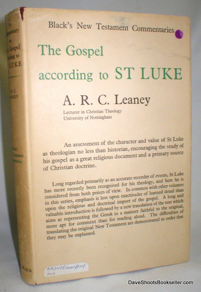 Image for The Gospel According to St. Luke (Black's New Testament Commentaries)
