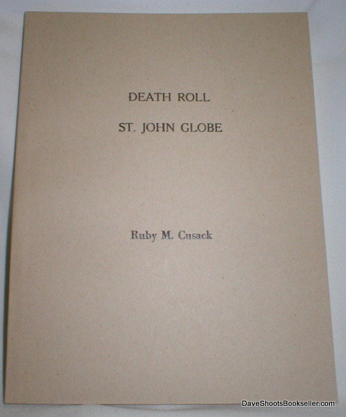 Image for Index to Death Roll; St. John Globe 1897-1926