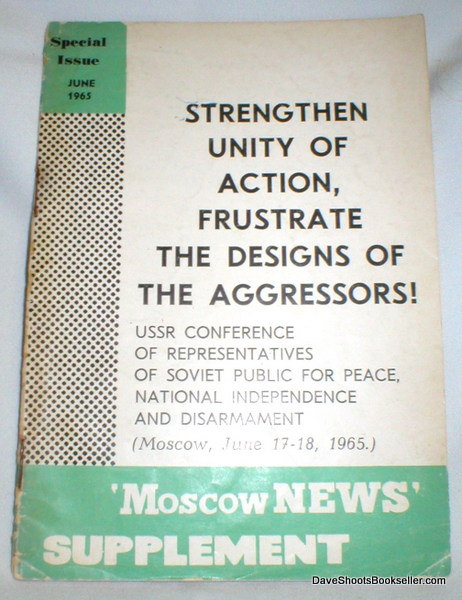 Image for Strengthen Unity of Action, Frustrate the Designs of the Aggressors ! USSR Conference, Etc.