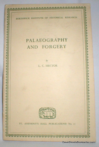 Image for Palaeography and Forgery