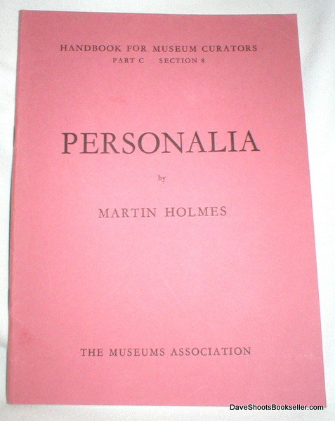 Image for Handbook for Museum Creators, Part C, Section 8 (Personalia)