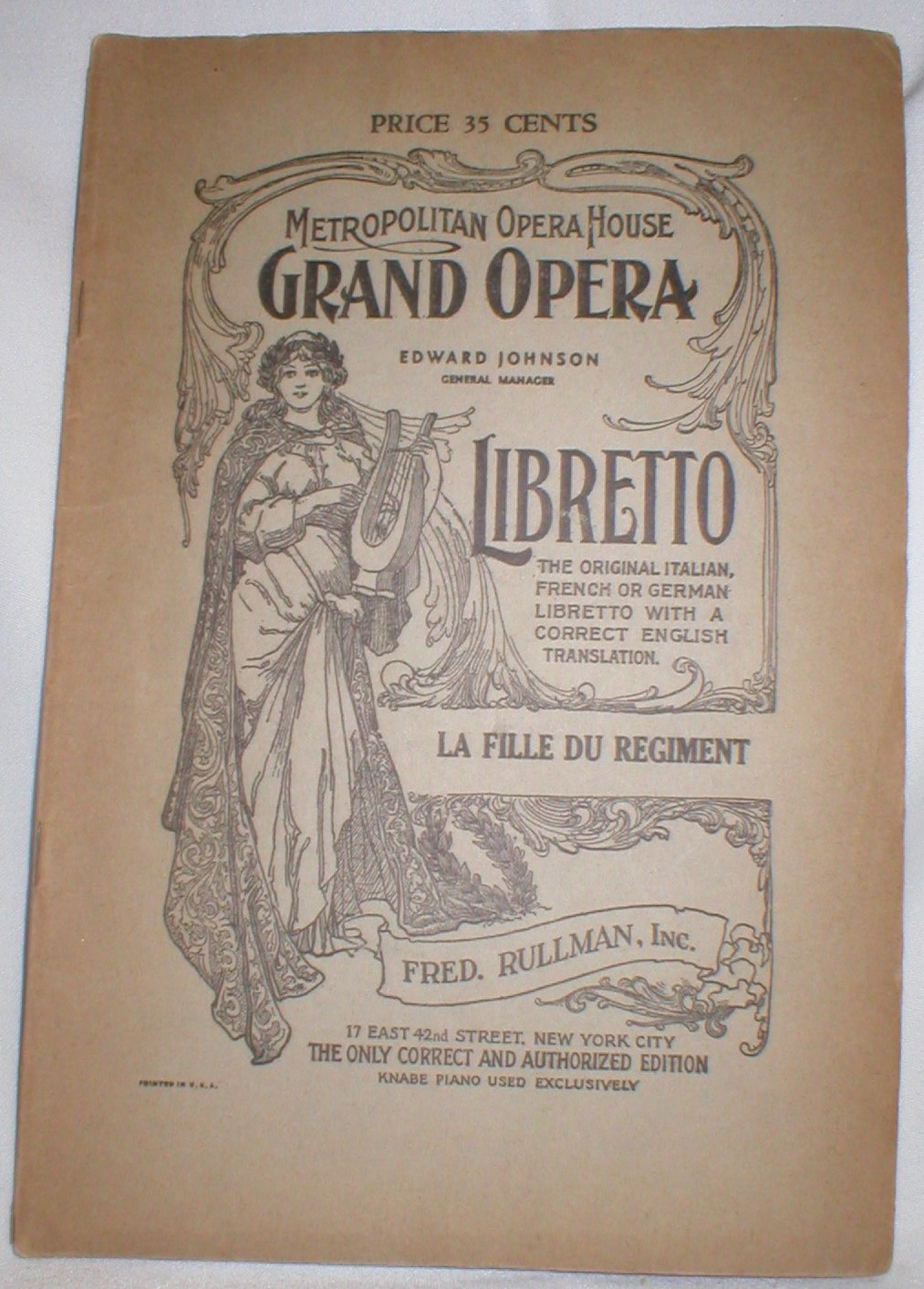 Image for The Daughter of the Regiment Libretto