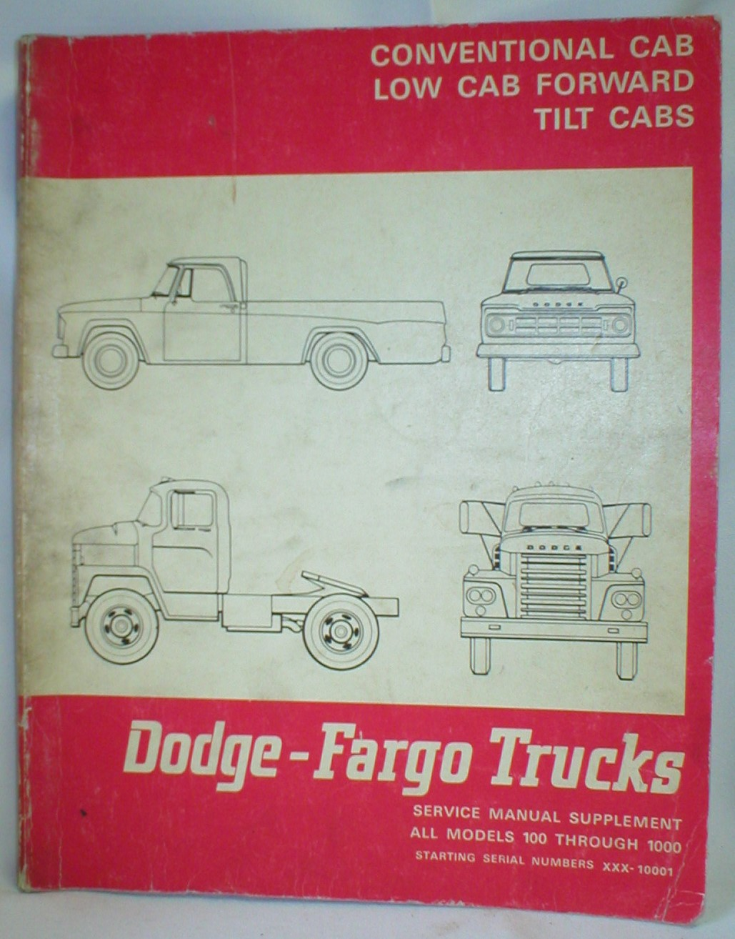 Image for Dodge-Fargo Trucks; Service Manual Supplement Models 100 Thru 1000