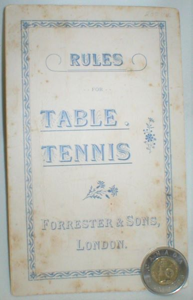 Image for Rules for Table Tennis
