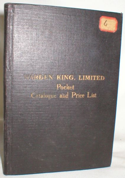 Image for Warden King, Limited, Pocket Catalogue and Price List