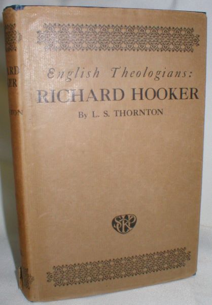 Image for Richard Hooker; A Study of His Theology